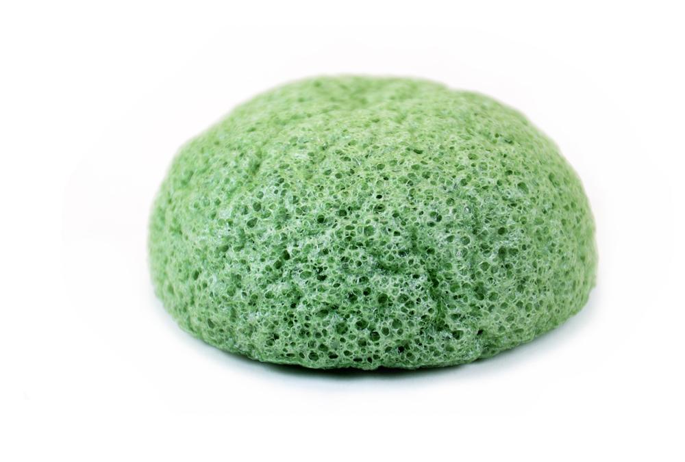 Konjac Schwamm grün green tea